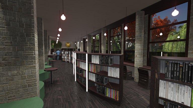 Idejno enterijersko rješenje - Biblioteka
